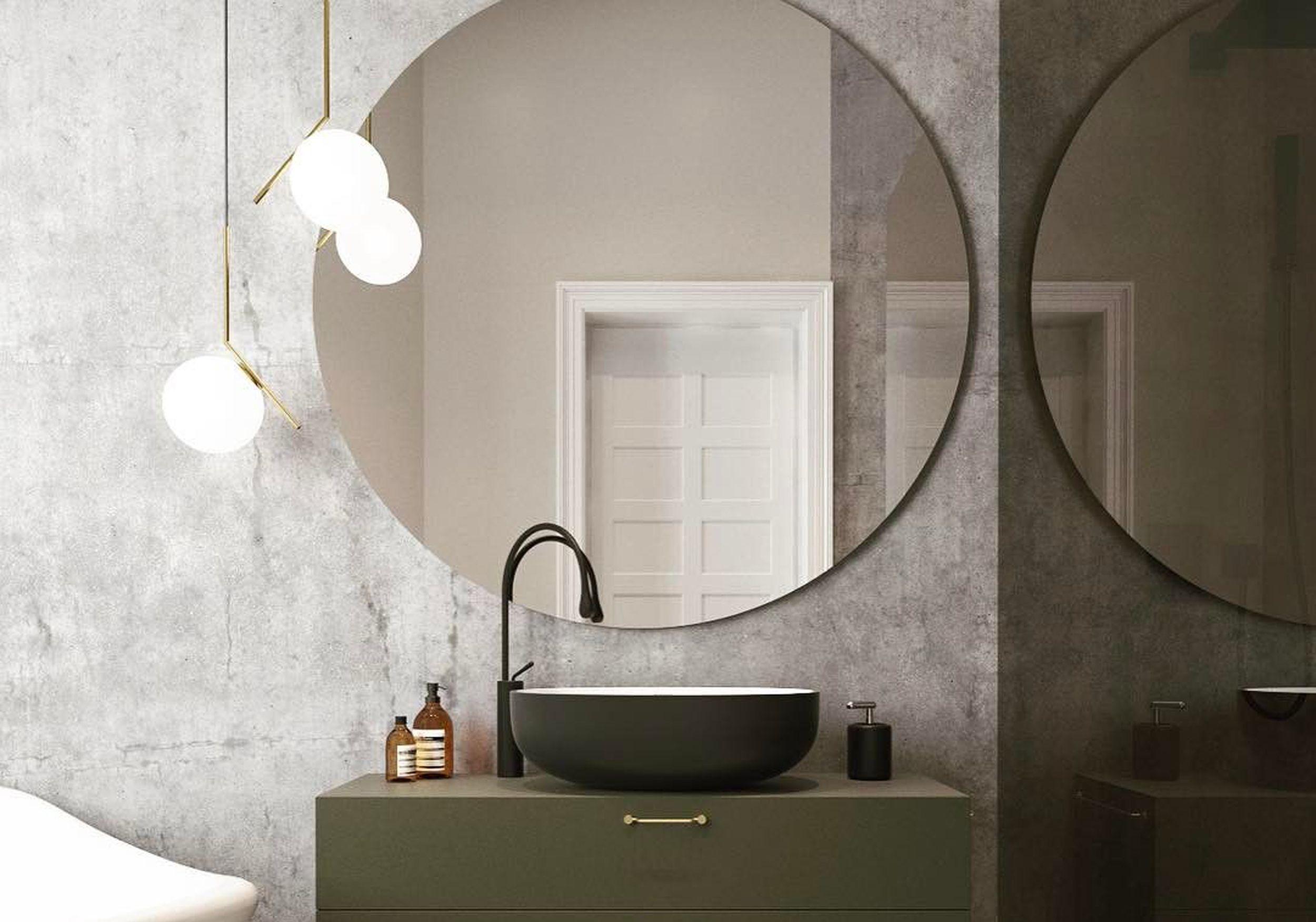 le miroir rond cet indispensable d co nos int rieurs elle d coration. Black Bedroom Furniture Sets. Home Design Ideas