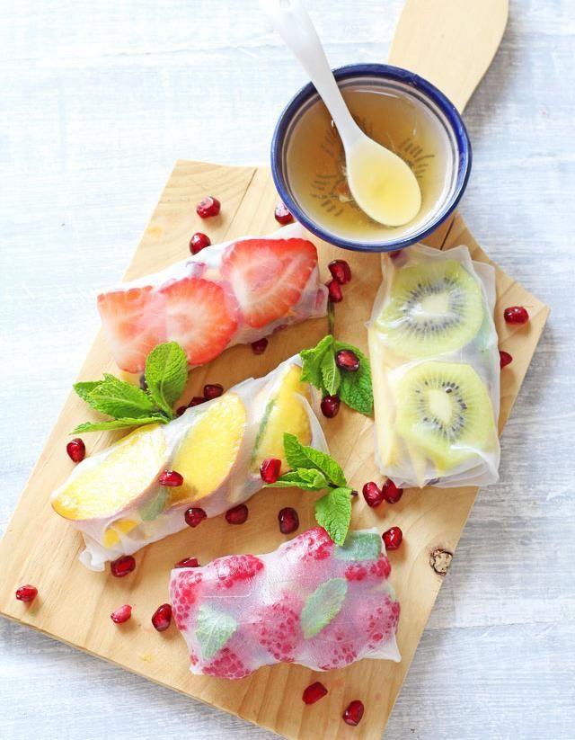 Les springrolls de fruits et de légumes, les petits roulés de l'été