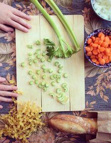 Soupe céleri, pommes, carottes