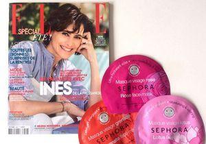 Bon plan : un masque en tissu Sephora offert avec votre magazine ELLE