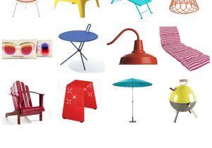 Cet été, les meubles colorés s'invitent au jardin !