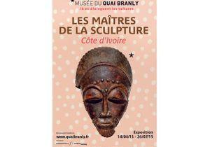 """Exposition """"Les maîtres de la sculpture Côte d'Ivoire"""" au musée du Quai Branly"""