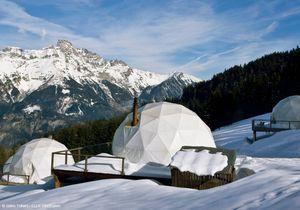 Des igloos-hôtels en pleine montagne