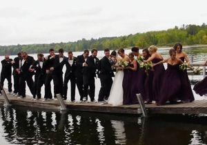 La séance photo mouvementée d'un mariage qui prend l'eau