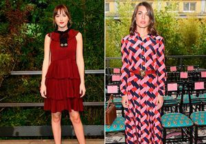 Match mode : Dakota Johnson et Charlotte Casiraghi au défilé Gucci