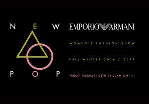 Fashion Week : suivez le défilé Emporio Armani en direct à 11h30