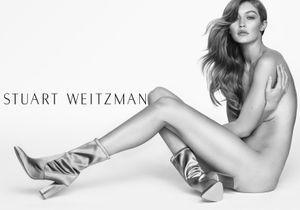 Gigi Hadid pose à nouveau pour Stuart Weitzman