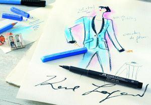 L'instant mode : Karl Lagerfeld voit la vie en couleurs avec Faber-Castell