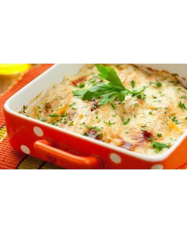 Gratin de pommes de terre aux deux saumons pour 6 personnes recettes elle table - Pomme de terre pour gratin ...
