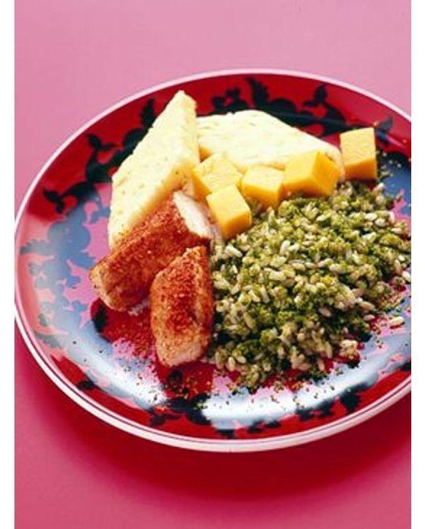 Filet de lapin aux pices riz vert et fruits pour 6 personnes recettes elle table - Quantite de riz par personne ...