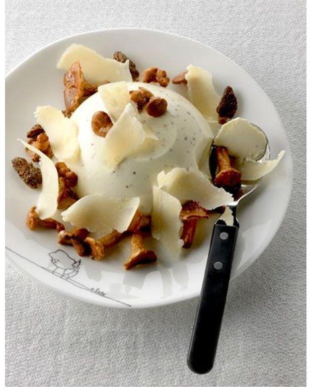 La chic panna cotta aux champignons pour 4 personnes recettes elle table - Panna cotta herve cuisine ...