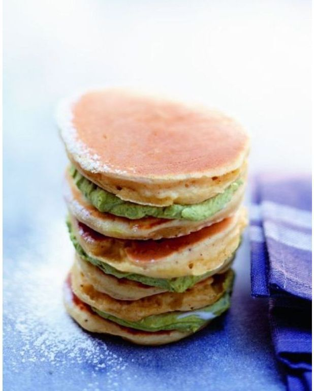 Pancakes la pistache pour 5 personnes recettes elle table - Recette pancakes herve cuisine ...
