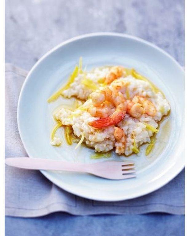 risotto crevettes citron pour 4 personnes recettes elle table. Black Bedroom Furniture Sets. Home Design Ideas