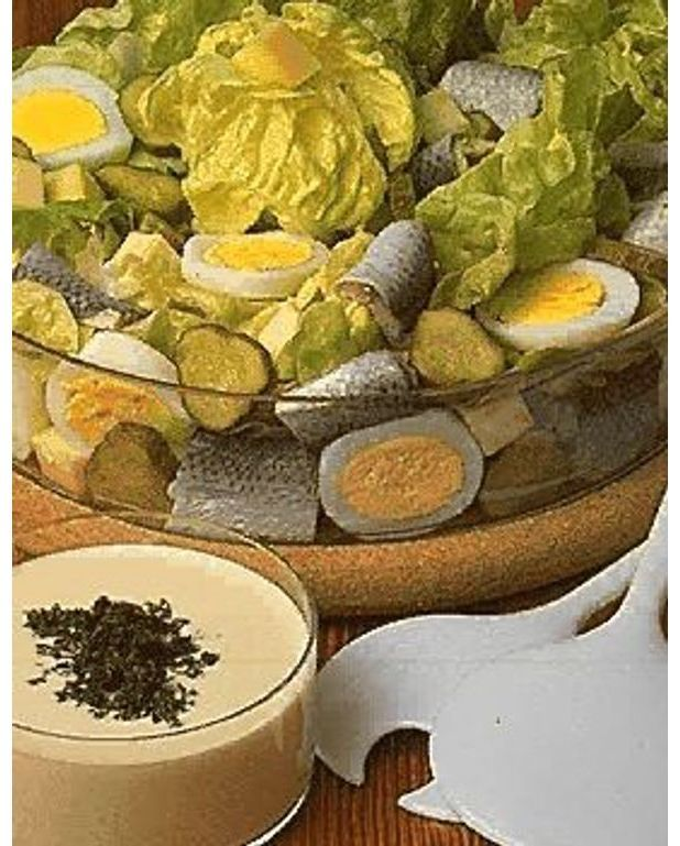 salade scandinave pour 4 personnes recettes elle table. Black Bedroom Furniture Sets. Home Design Ideas