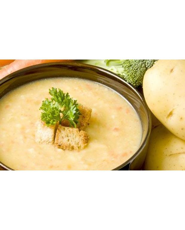 soupe rustique de pommes de terre pour 6 personnes recettes elle table. Black Bedroom Furniture Sets. Home Design Ideas