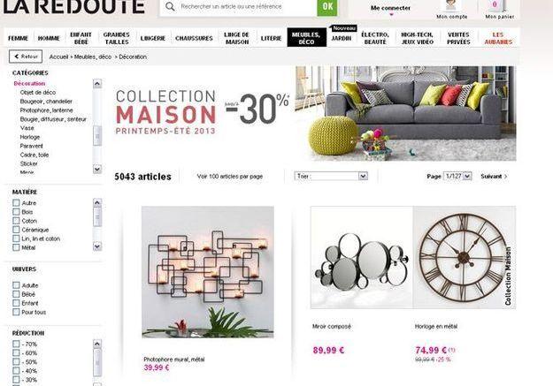 D co les sites prix tout doux elle d coration for Boutique deco en ligne