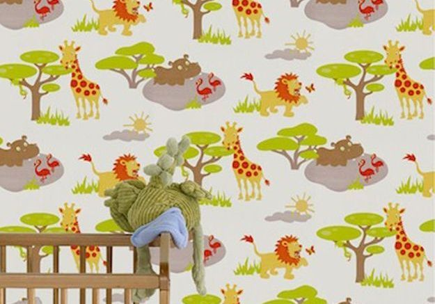 Papier peint avec animaux