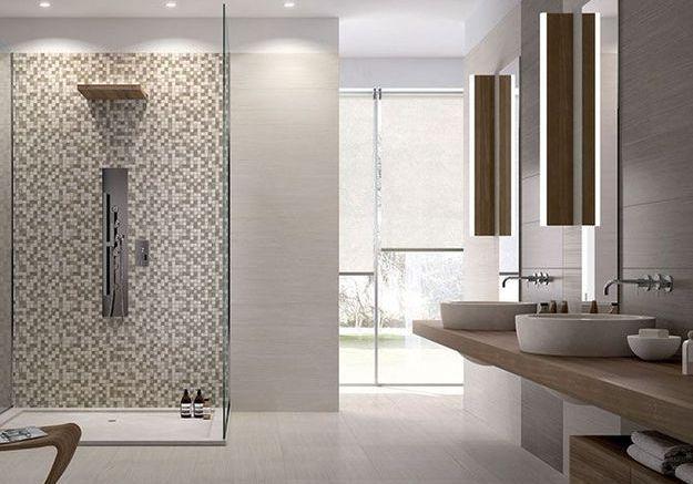 Salle de bains et carrelage font bon m nage elle d coration - Deco salle de bain carrelage ...