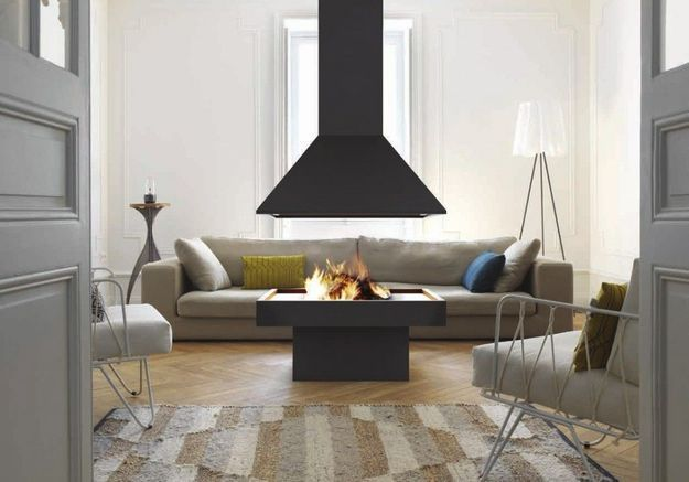 chemine moderne latest simple wonderful idee de deco salon salle a manger chemine moderne ides. Black Bedroom Furniture Sets. Home Design Ideas