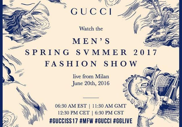 Gucci : suivez le défilé homme en direct sur ELLE.fr