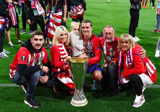 Avec la famille Griezmann