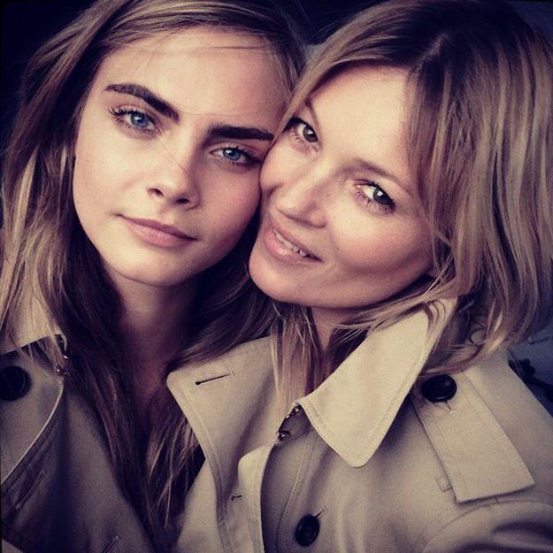 Kate Moss et Cara Delevingne égéries complices pour Burberry Parfums!