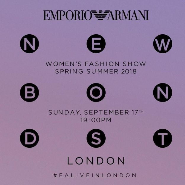 Fashion week de Londres : suivez le défilé Emporio Armani en direct