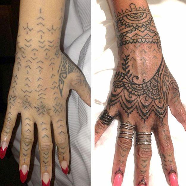Rihanna, un caprice pour son tatouage !