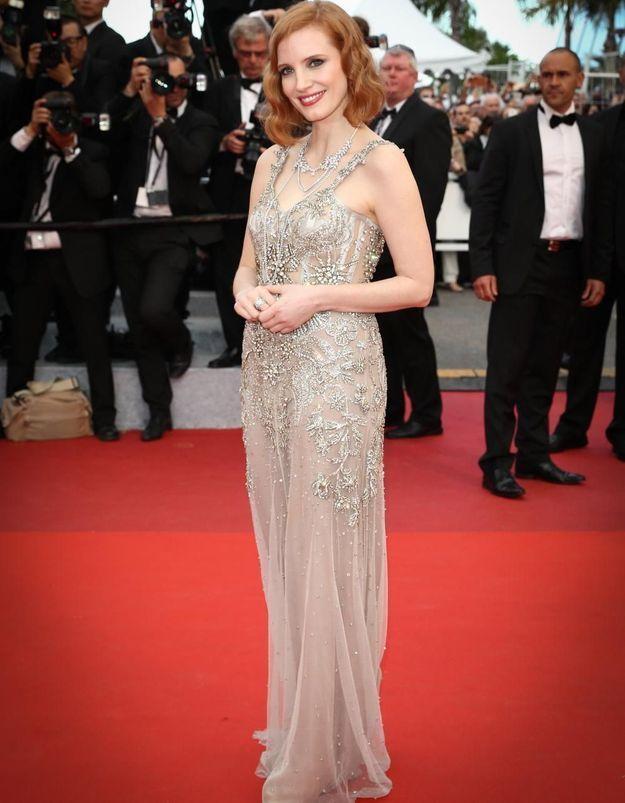 Le look du jour de Cannes : Jessica Chastain en Alexander McQueen
