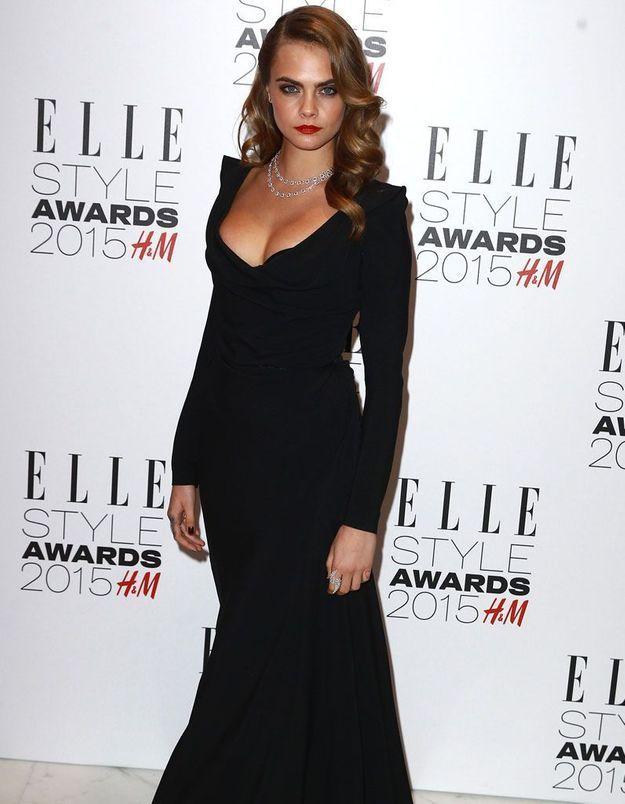 ELLE Style Awards 2015 : Cara Delevingne, rock en diamants Messika Haute Joaillerie
