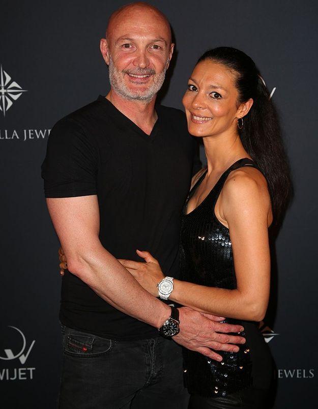 Frank Leboeuf et sa femme Chrislaure
