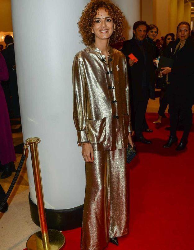 Leïla Slimani en Dior