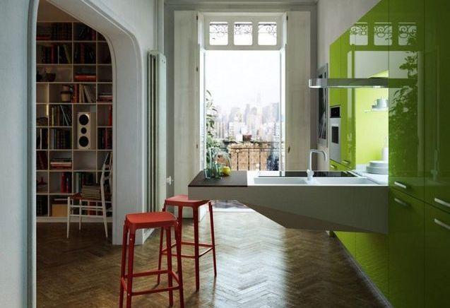 Une cuisine colorée pour un intérieur qui change !