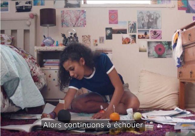 La vidéo qui encourage les adolescentes à ne plus avoir peur de l'échec