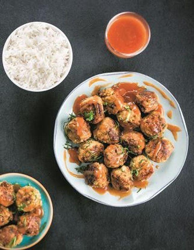Boulettes de viande, sauce aigre-douce