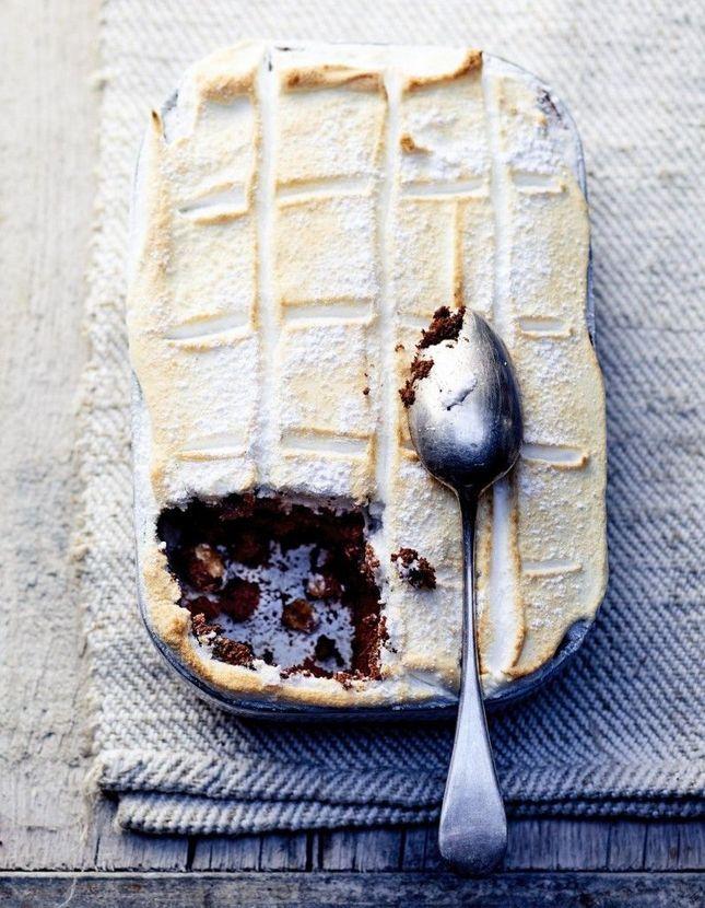 Gâteau chocolat noisette meringué