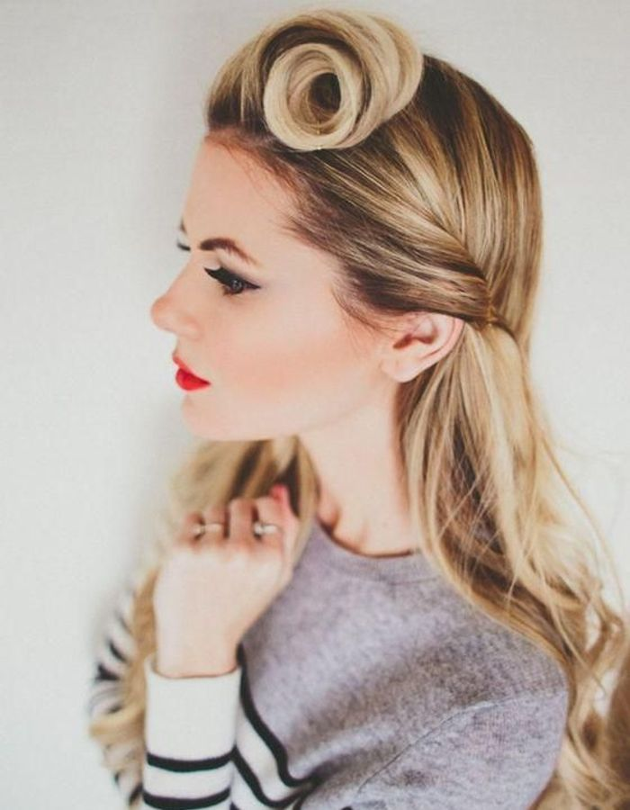 Top Coiffure vintage cheveux longs - Coiffure vintage : nos plus  KB16