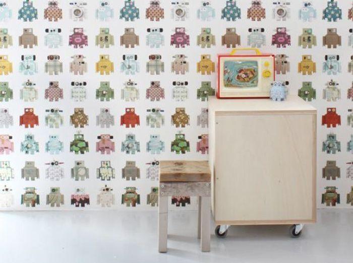 idee chambre bebe papier peint avec des id es int ressantes pour la conception de. Black Bedroom Furniture Sets. Home Design Ideas