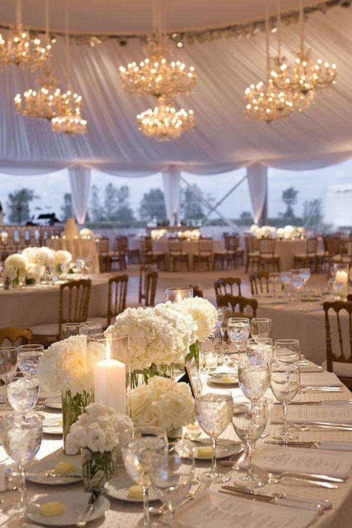 Connu Bouquet de fleurs blanches pour un centre de table - 25 bouquets  EN14