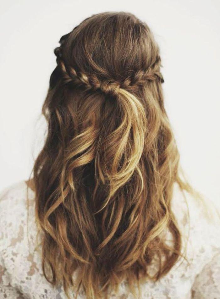 coiffure tresse simple