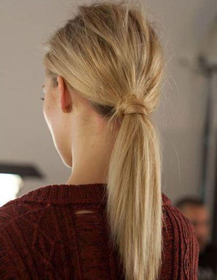 la queue de cheval nature 20 coiffures faire entre deux shampoings elle. Black Bedroom Furniture Sets. Home Design Ideas