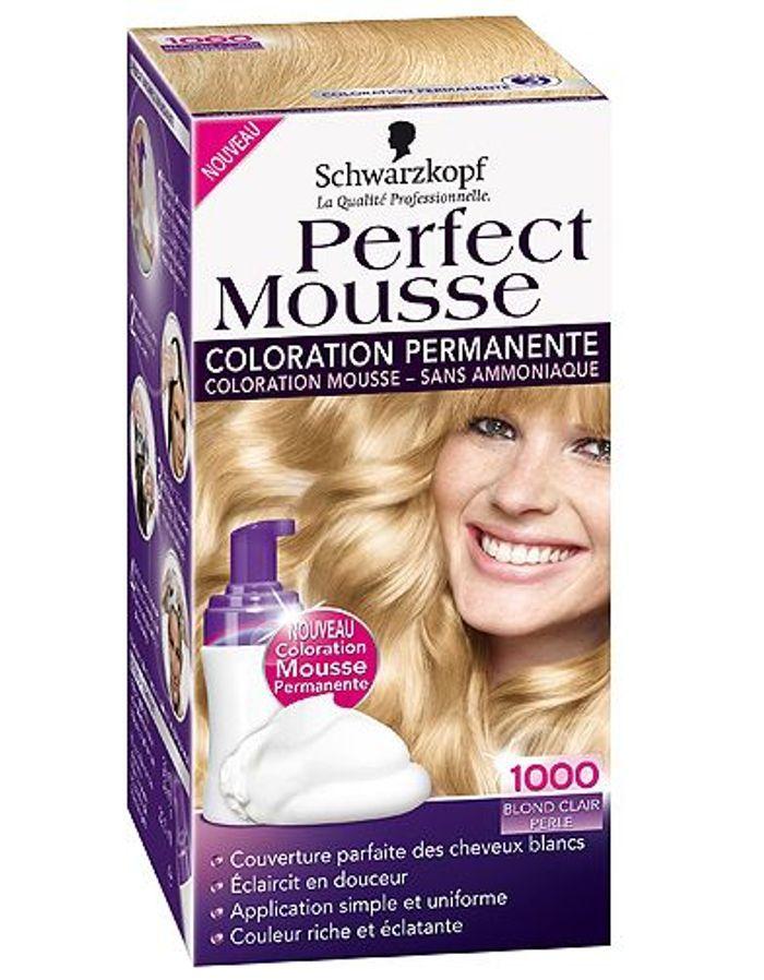 Coloration cheveux schwarzkopf perfect mousse