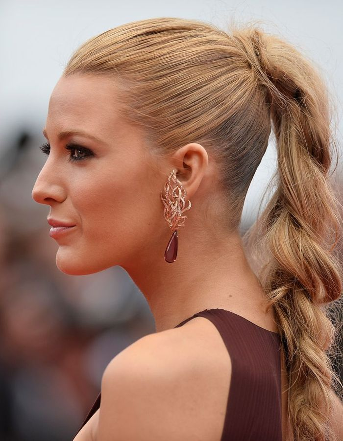 la tresse haute de blake lively notre palmar s des plus. Black Bedroom Furniture Sets. Home Design Ideas