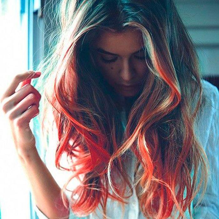 How To Get Rainbow Hair Rainbow Dip Dye Dying Hair