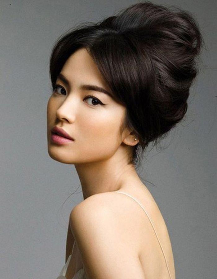 Coiffure mariée pour visage rond , Les plus jolies coiffures de mariée pour  s\u0027inspirer , Elle