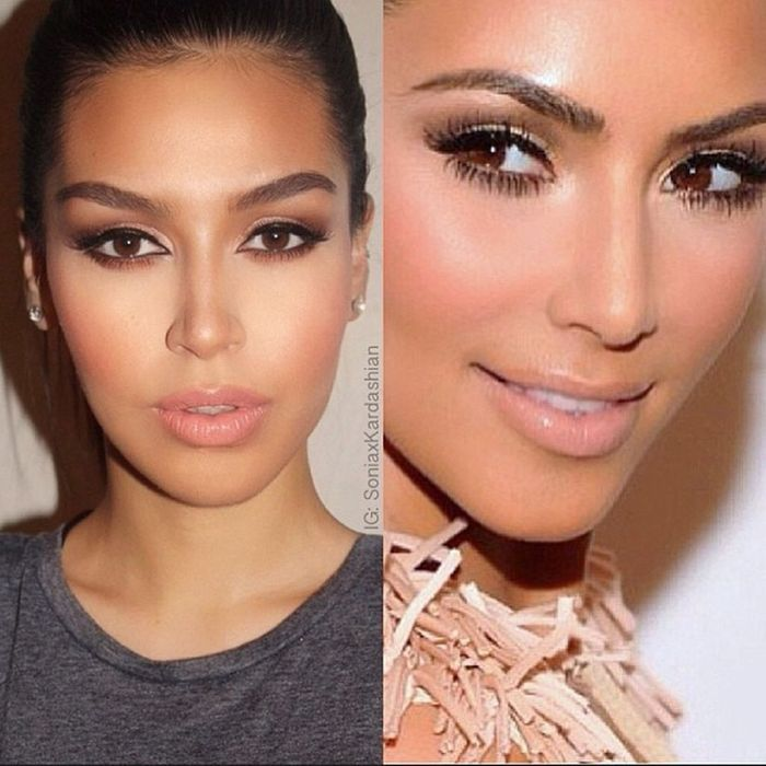 Le maquillage nude de kim kardashian incroyable elles se transforment en kim kardashian elle - Maquillage nude mariage ...