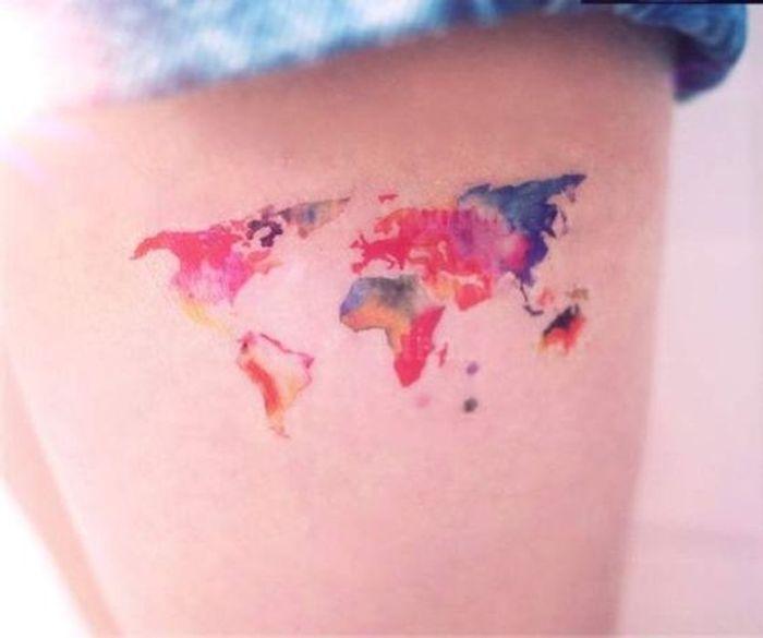 Tatouage Aquarelle Cuisse Les Plus Jolis Tatouages