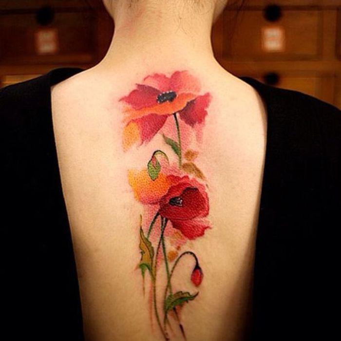 tatouage aquarelle omoplate les plus jolis tatouages aquarelle pour voir la vie en technicolor. Black Bedroom Furniture Sets. Home Design Ideas