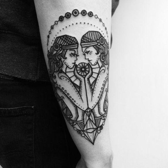 tatouage signe astrologique g meaux old school quel tatouage se faire selon son signe. Black Bedroom Furniture Sets. Home Design Ideas