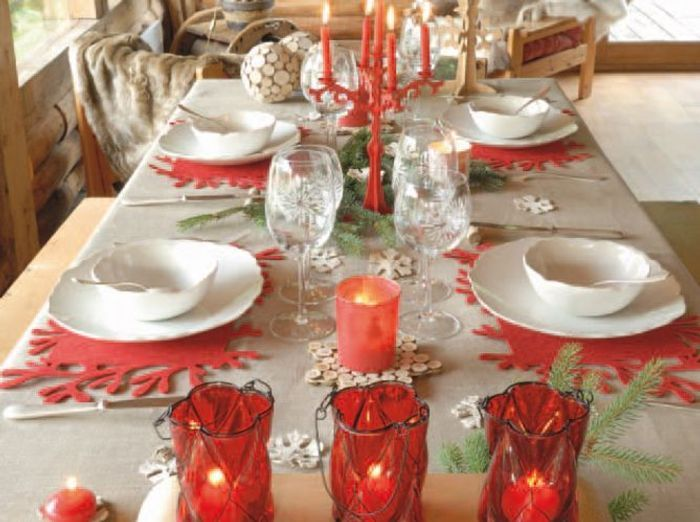 4 d co de table pour no l elle d coration - Decoration de table de noel a fabriquer ...